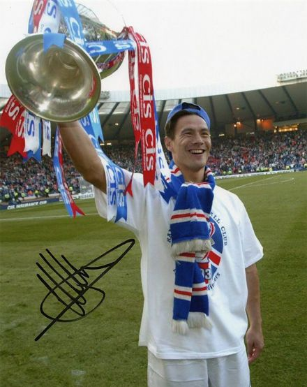 Michael Mols, Rangers & Holland, signed 10x8 inch photo.